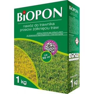 Nawóz do trawnika przeciw żólknięciu 1kg BIOPON