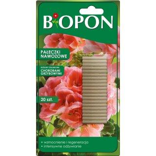 Pałeczki nawozowe do roślin osłabionych chorobami grzybowymi 20 szt BIOPON