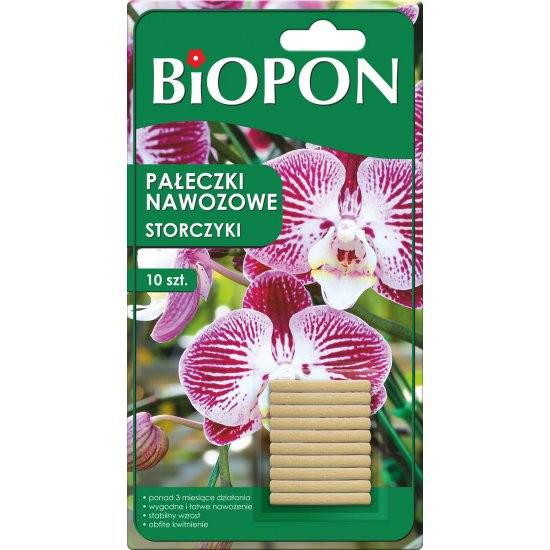 Pałeczki nawozowe do storczyków 10 szt BIOPON