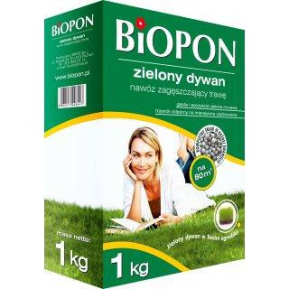 Nawóz zielony dywan zagęszczający trawę 1kg BIOPON
