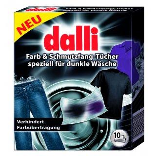Chusteczki do prania ciemnych tkanin 10 szt DALLI