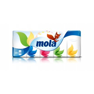 Chusteczki higieniczne 3 warstwowe 10 szt MOLA