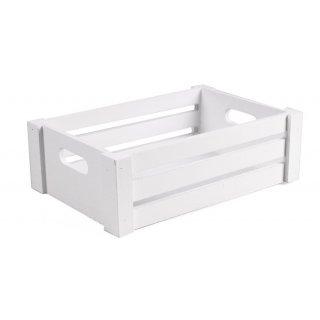 Skrzynka drewniana biała 27,5x18x9,5 cm TIN TOURS