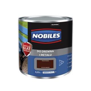 Farba do metalu i drewna Ftalonal brązowy 0,25L NOBILES
