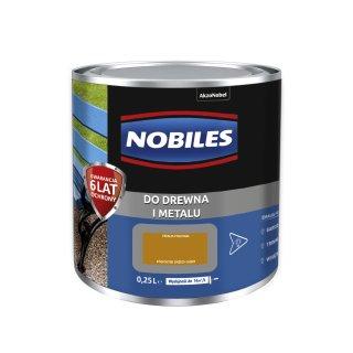 Farba do metalu i drewna Ftalonal orzech jasny 0,25L NOBILES