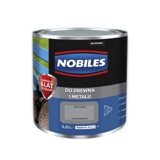 Farba do metalu i drewna Ftalonal szary jasny 0,25L NOBILES
