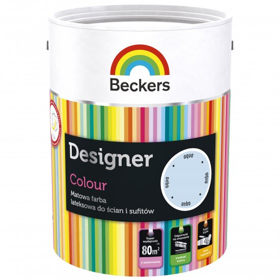 Farba lateksowa Designer 5L aqua BECKERS TIKKURILA
