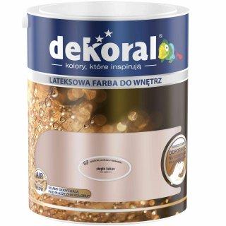 Farba do ścian i sufitów ciepłe kakao 5l DEKORAL