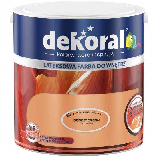 Farba do ścian i sufitów pachnący cynamon 2,5l DEKORAL
