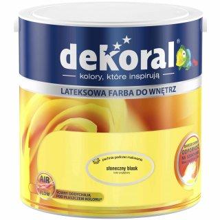 Farba do ścian i sufitów słoneczny blask 2,5l DEKORAL
