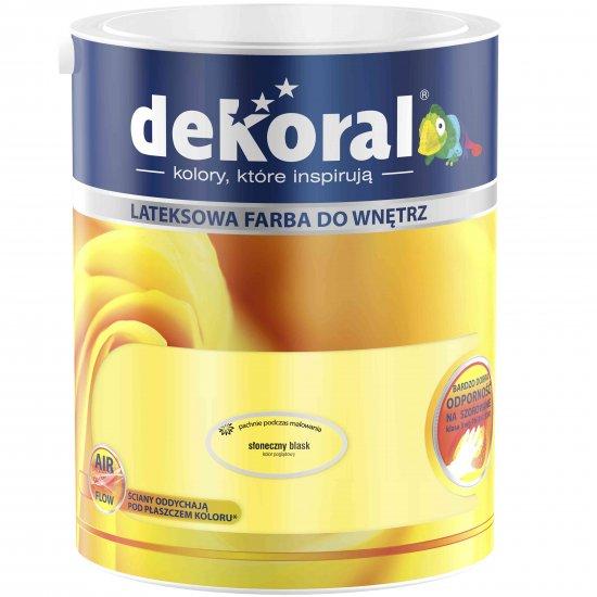 Farba do ścian i sufitów słoneczny blask 5l DEKORAL