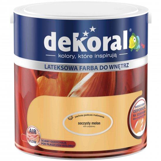 Farba do ścian i sufitów soczysty melon 2,5l DEKORAL