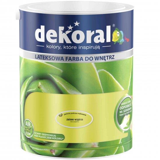 Farba do ścian i sufitów zielone wzgórze 5l DEKORAL