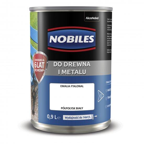 Farba do metalu i drewna Ftalonal biały 0,9L NOBILES
