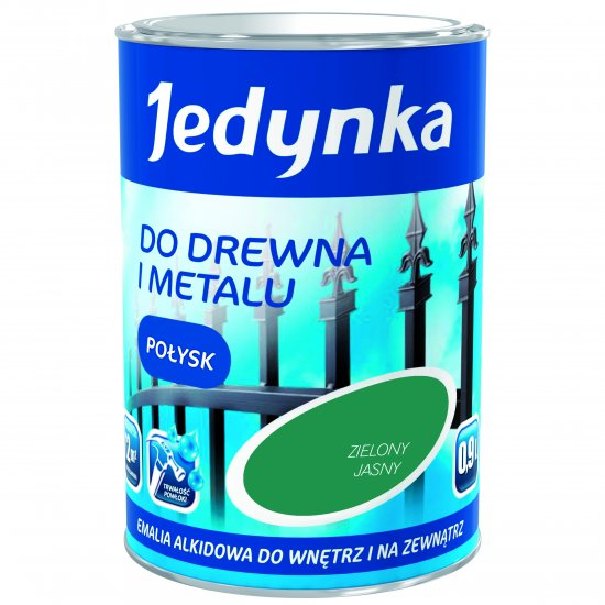 Farba do drewna i metalu Jedynka 0,9L zielony jasny TIKKURILA