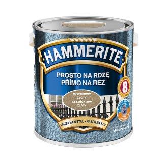Farba do metalu Młotkowy Złoty 2,5 L HAMMERITE