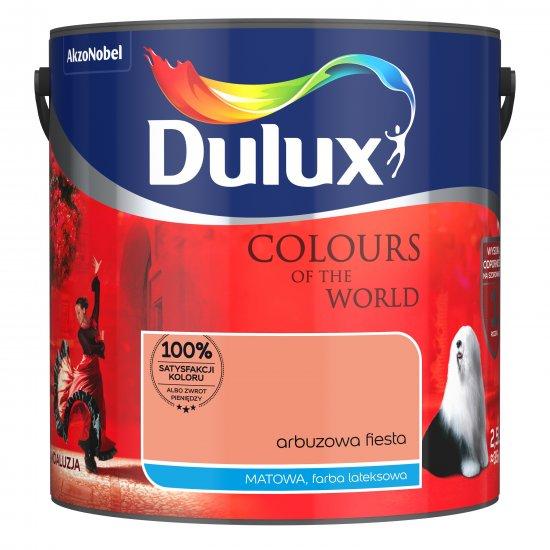 Farba do wnętrz Arbuzowa Fiesta 2,5L Kolory świata DULUX