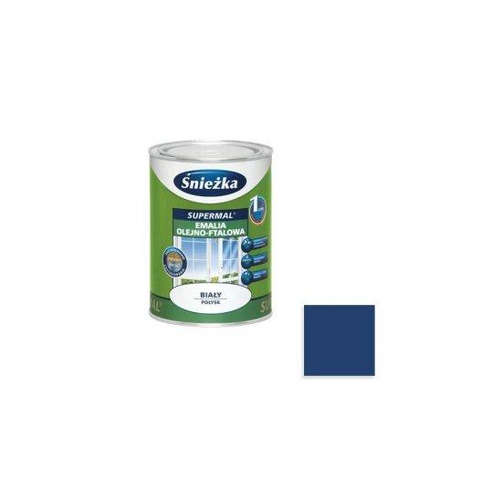 Farba do drewna i metalu Supermal 0,8L niebieski ciemny ŚNIEŻKA