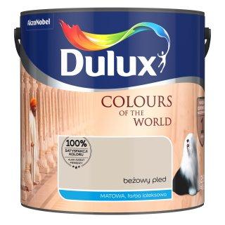 Farba do wnętrz Beżowy Pled 2,5L Kolory świata DULUX