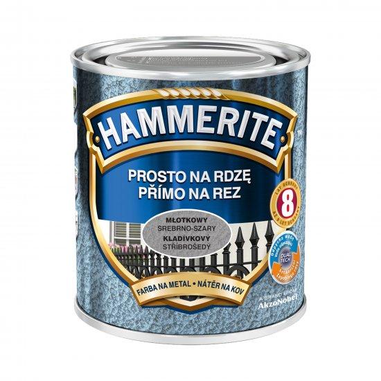 Farba na rdzę młotkowy srebrno-szary 0,7 L Hammerite AKZO