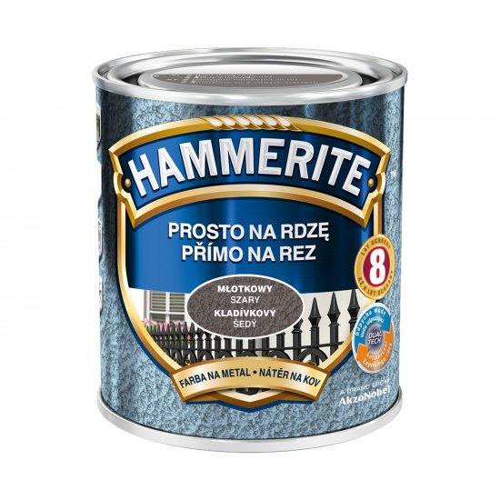 Farba na rdzę młotkowy szary 0,7 L Hammerite AKZO