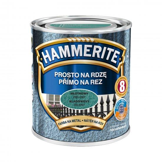 Farba na rdzę młotkowy zielony 0,7 L Hammerite AKZO