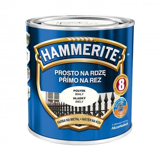 Farba na rdzę połysk biały 0,7 L Hammerite AKZO