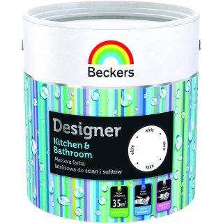 Farba lateksowa Designer Kitchen&Bathroom 2,5L Biała BECKERS