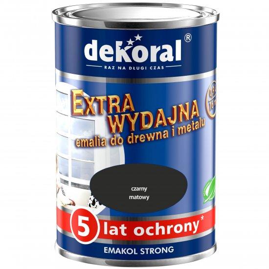 Emalia ftalowa EMAKOL STRONG czarny matowy 0,9l DEKORAL