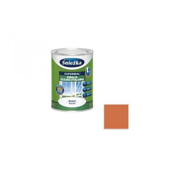 Farba do drewna i metalu pomarańczo. 0,8 L Supermal Śnieżka