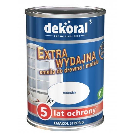 Emalia ftalowa EMAKOL STRONG biały 0,9l DEKORAL