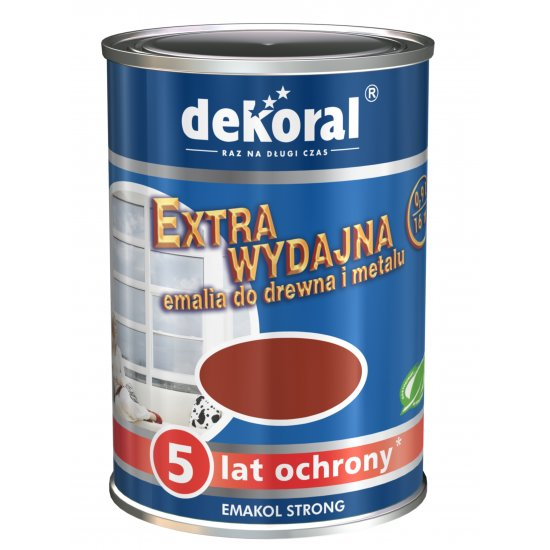 Emalia ftalowa EMAKOL STRONG brązowy 0,9l DEKORAL