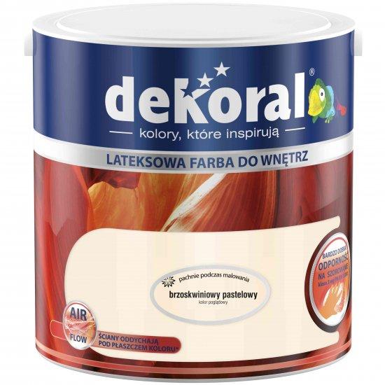 Farba do ścian i sufitów brzoskwiniowy pastelowy 2,5l DEKORAL