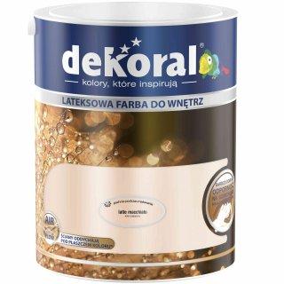 Farba do ścian i sufitów latte macchiato5l DEKORAL