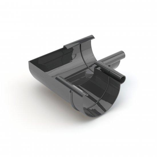 Narożnik wewnętrzny fi125 grafit GAMRAT