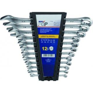 Zestaw kluczy płasko-oczkowych 12 szt. 6-22 mm DEDRA