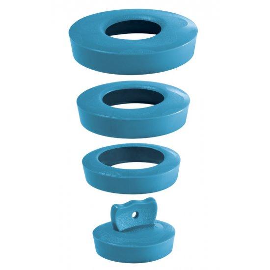 Korek uniwersalny niebieski 36-58 mm TYCNER