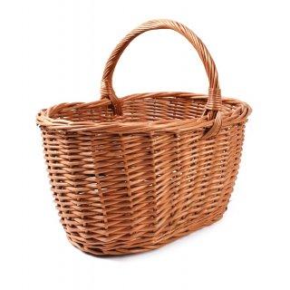 Koszyk wiklinowy zakupowy grzybowy 45x31x21/37 cm TIN TOURS