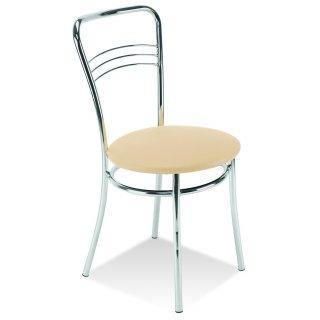 Krzesło kuchenne ARGENTO CHROME kremowy NOWY STYL