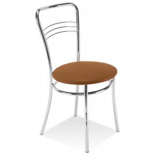 Krzesło kuchenne ARGENTO CHROME jasny brąz NOWY STYL