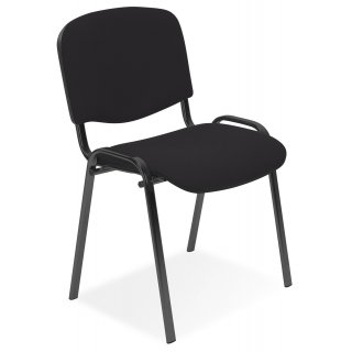 Krzesło biurowe konferencyjne Iso ciemny szary NOWY STYL