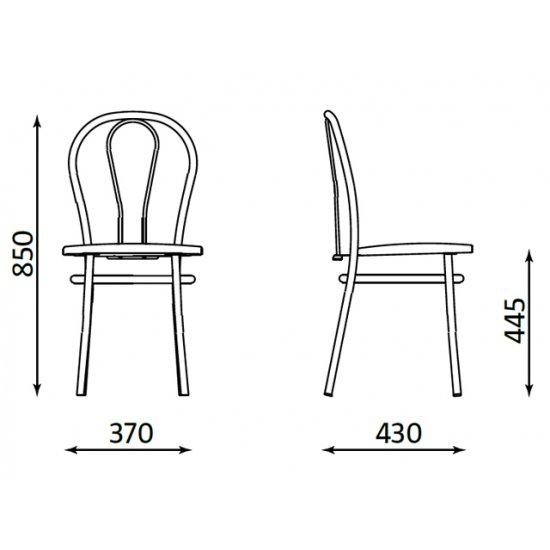 Krzesło kuchenne tapicerowane j.brąz tulipan chrom NOWY STYL