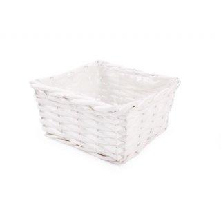 Koszyk dekoracyjny biały TIN TOURS