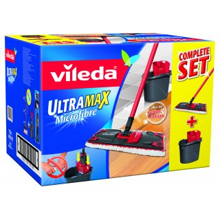 Zestaw mop ultramax wiadro + mop + wyciskacz VILEDA
