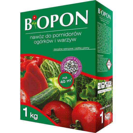Nawóz do pomidorów, ogórków i warzyw 1kg BIOPON