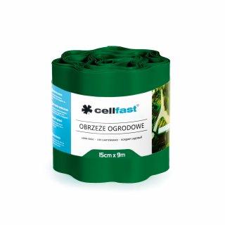 Obrzeża ogrodowe ciemna zieleń 15x9cm CELL-FAST