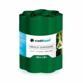 Obrzeża ogrodowe ciemna zieleń 20x9cm CELL-FAST
