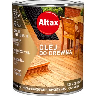 Olej do drewna 0,75 L dąb ALTAX
