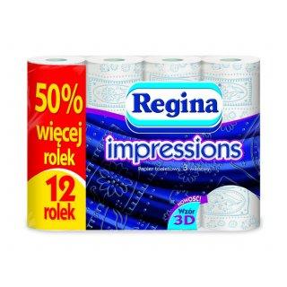 Papier toaletowy REGINA IMPRESSIONS niebieski 12 szt