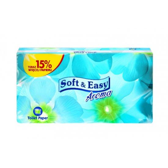 Papier toaletowy 8 sztuk w opakowaniu biały Aroma SOFT&EASY